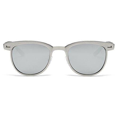 cb99eed662 Kimorn Polarized Sunglasses Semi-Rimless Metal Frame Classic Sun Glasses  K0558