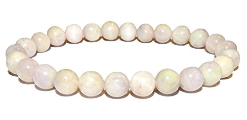 8mm Kunzite Bracelet 01 High Vibration Heart Healing Crystal Energy (Gift Box) (6.25)