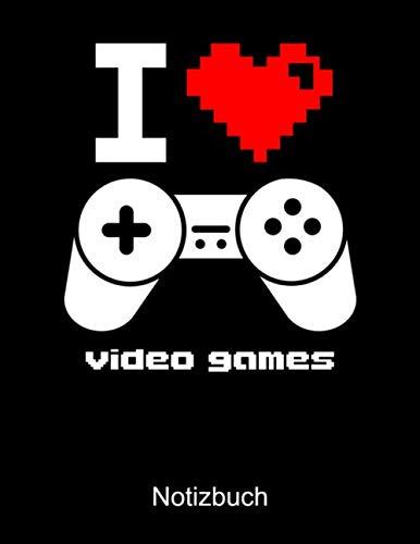 I LOVE VIDEO GAMES Notizbuch: DOT Grid Notizbuch für Nerds, Geeks, Internet, Computer, Videospiel und Gaming Fans - Notizheft Klatte für Männer, Frauen und Kinder A4 100 Seiten (German Edition) (Sonnenbrille-videos)