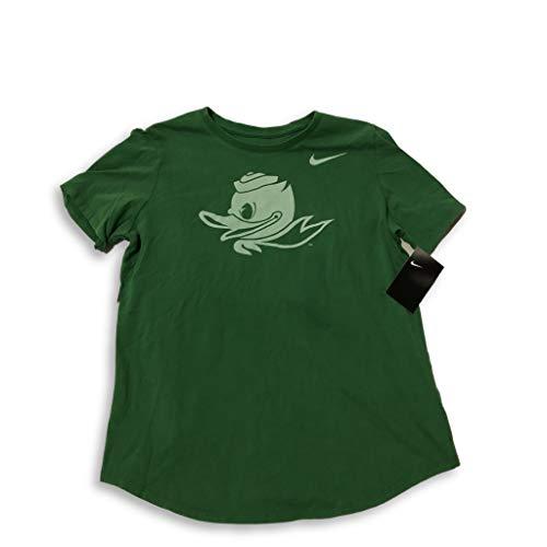 Nike Oregon Ducks Women's Apple Green Fluid Puddles Logo T-Shirt (X-Large)