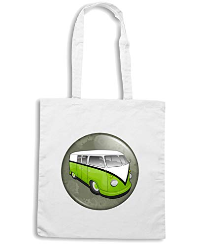 Bianca CAMPERVAN RETRO PEACE Speed VW Shopper NERD HIPPY TR0154 Shirt GEEK Borsa 0xwYt