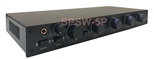 Professional 5-Zone Stereo Speaker Distribution Controller With Volume Controls ()