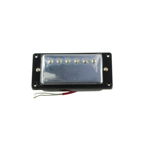Musiclily 50MM Neck Humbucker Humbucking Pickup Double Coil Pickup for Gibson LP Les Paul Guitar, Chrome