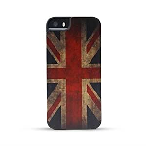 LCJ Wooden Case UK Flag Bamboo Wooden Back Cover for iPhone 5