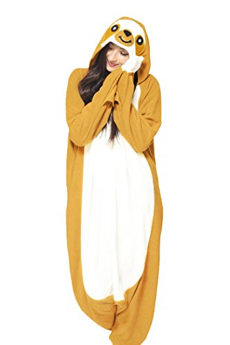 WOTOGOLD Animal Cosplay Costume Yellow Sloth Adult Pajamas (Yellow Womens Pajamas)