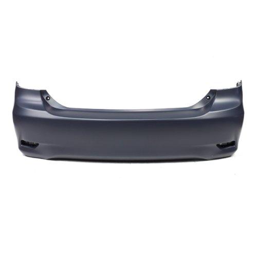 (CarPartsDepot, Primered black Plastic Rear Bumper Cover Replacement Canada Built, 352-442176-20-PM TO1100287 5215902977)