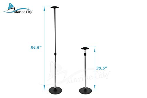 Marine City Aluminum Telescoping Spherical-top Boat Cover 2 Section Support Stand Pole (High: 30-1/2