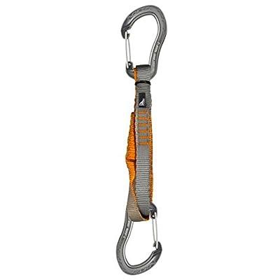 Fusion Techno Zoom Wire Gate / Wire Gate Carabiner 20 Centimeter Quickdraw (Black/Black, 20-cm)