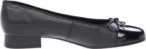 With Tip Navy Flat Women's Leather ara Ballet Bel Patent IAx6YO