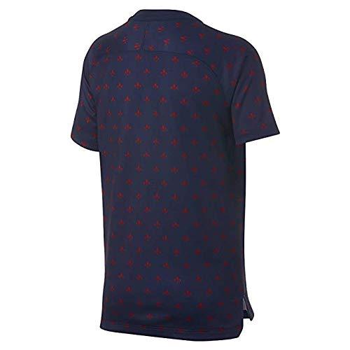 Nike 2018-2019 PSG Pre-Match Training Football Soccer T-Shirt Jersey (Navy) - Kids