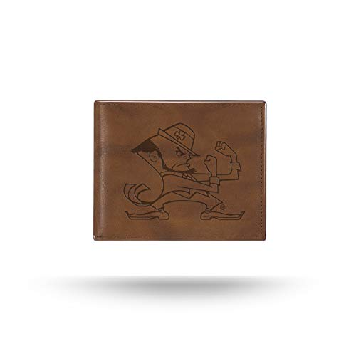 Rico Industries NCAA Notre Dame Fighting Irish Embossed Leather Billfold Wallet with Man Made Interior ()