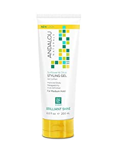 Andalou Naturals Sunflower & Citrus Brilliant Shine Styling Gel, 6.8 oz, Helps Give Hair Smooth Shine & De-Frizz Split Ends
