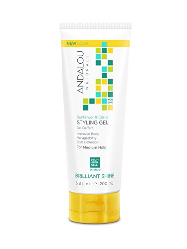 Andalou Naturals Sunflower & Citrus Brilliant Shine Styling Gel, 6.8 Ounce