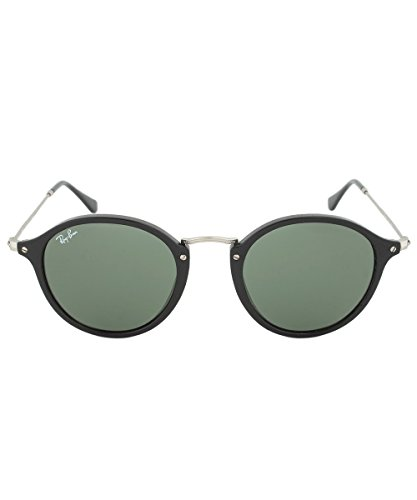 68bce183727 Amazon.com  NEW Authentic Ray-Ban Round RB 2447 901 49mm Black Frame    Green Lens  Shoes