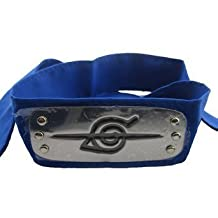 xcoser Naruto Headband Leaf Village Metal Plated Cosplay Accessories Blue, 7.3inches