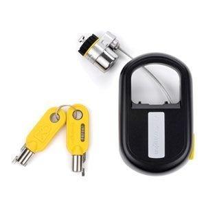 (Kensington Retractable Keyed Notebook Lock-Notebook Lock, Retractable, 4' Steel Cable, Black)