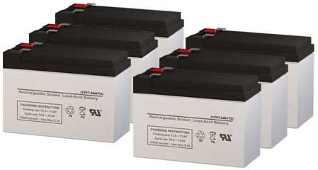 PCM Powercom Vanguard 2000VA Rackmount UPS Replacement Batteries Set of 6