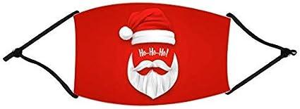 Unisex Mundschutz mit Motiv Weihnachten Rentier Weihnachtsmann Mund und Nasenschutz Waschbar Wiederverwendbar Lustig Motorrad Staubschutz Multifunktionstuch Halstuch Bandana f/ür Herren Damen