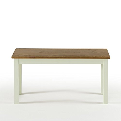 Amazon Com Zinus Becky Farmhouse Wood Bench Table Benches