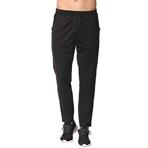 Pants Soccer Training (COSSNISS Men's Tapered Athletic Running Pants Training Joggers Pants with Pockets Black)