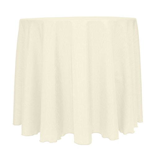 Ultimate Textile -10 Pack- Reversible Shantung Christmas Satin - Majestic 120-Inch Round Tablecloth, Ivory Cream