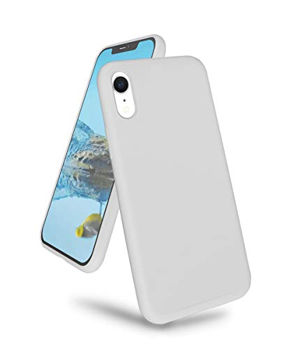 K TOMOTO Compatible with iPhone XR Case, Ultra Slim Liquid Silicone Gel Rubber Full Body Drop Protection Shockproof Protective Phone Cover for iPhone XR, Stone