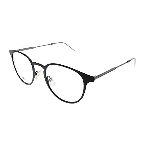 Authentic Christian Dior Homme 0203 02B2 Matte Black Dark Rust Eyeglasses