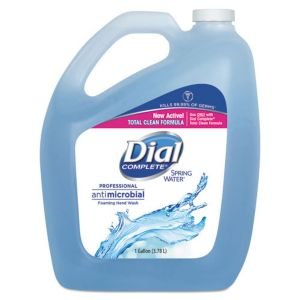 Dial 00017000159225 Complete Spring Water Antimicrobial Foaming Hand Wash 4/1 gal Refill (Total Clean - Bzc) , 6.7'' Height, 2.7'' width, 128 Ounces (Pack of 4)