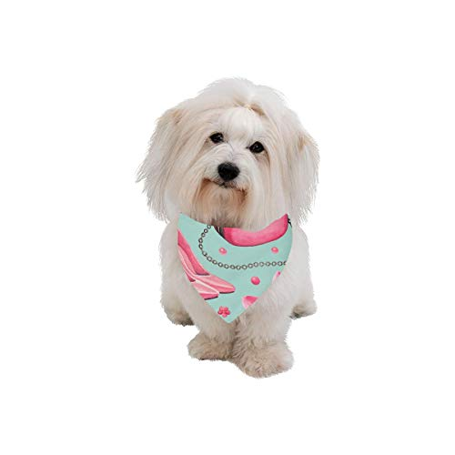 XINGCHENSS Pet Dog Cat Bandana Lip Glaze Beauty Color Hand-Painted Fashion Printing Bibs Triangle Head Scarfs Kerchief Accessories for Large Dog Pet Birthday Party Easter Gifts