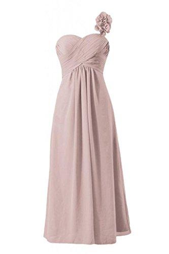 Les Femmes De Daisyformals Longue Robe De Soirée Une Robe De Demoiselle D'honneur En Mousseline De Soie Épaule (bm346) # 18 Rose Poussiéreuse