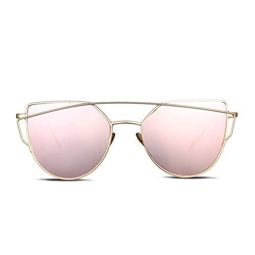 Cat Eye Sunglasses Womens Mirrored Lenses Vivic  Pink