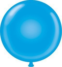 36 Inch Giant Round Blue Latex Balloons by TUFTEX (Premium Helium Quality) Pkg/1