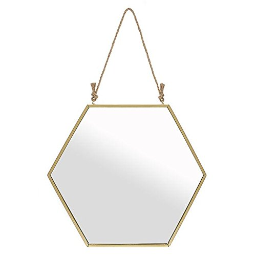 Large Gold Geometric Mirror Something Different