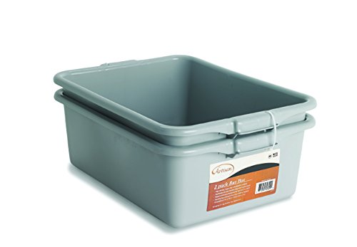 (NUCU Artisan Utility Bus Box and Storage Bin with Handles, 2-Pack )