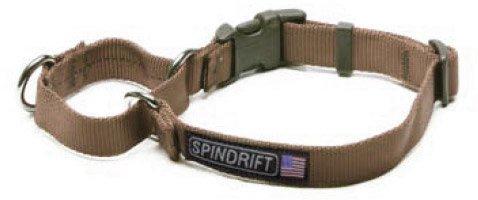 "Spindrift 335 Buckle Martingale Dog Training Collar - Small (3/4"" x 12-15""), Granite Grey"