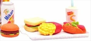 Iwako Japanese Eraser Set - Fast Food Assortment ()