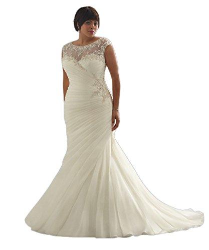 FPDress Discount Opulent Mermaid Plus Size Wedding Dresses (16W, ()