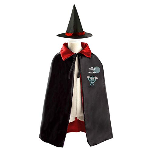 69PF-1 Halloween Cape Matching Witch Hat Onrushing Mummy