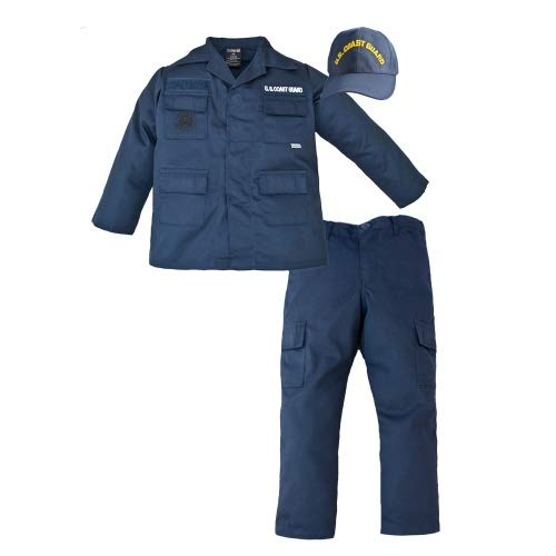 Trooper Clothing Coast Guard 3 Piece Trooper Set w/10 Pockets, Small, Navy Blue, Small 6-8, by Trooper Clothing