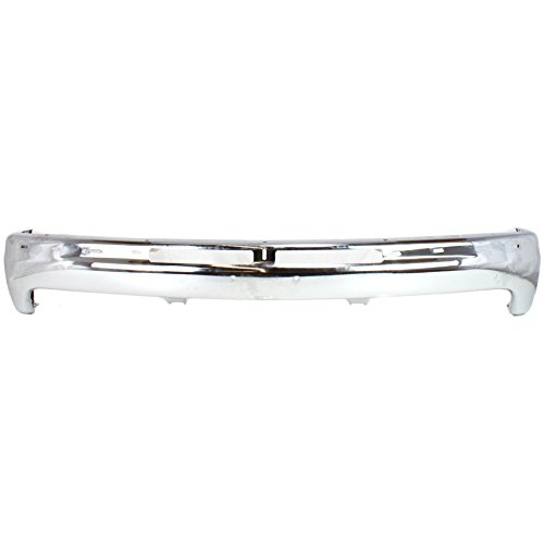 Bumper compatible with Chevrolet Silverado 99-02/Tahoe 00-06 Front Bumper Chrome ()