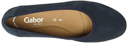 Gabor Shoes Comfort, Bailarinas para Mujer Azul (nightblue 46)