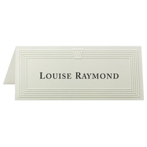 First-Base-Overtures-Embossed-Place-Card-425-x-181-47lb-Recycled-60-Pack-Ivory