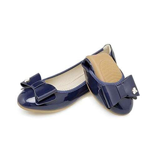 FLYRCX Arco Suave de Las Mujeres de Charol Dulce Arco y Zapatos Planos cómodos Zapatos de Trabajo Zapatos de Las Mujeres Embarazadas Zapatos de Ballet portátiles Plegables I