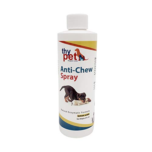 THYPET Pets Lemon Anti Chew Spray - Dog Training, Stop Chewing Spray Prepared with Natural Enzymatic Formula