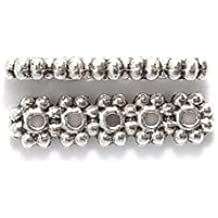 Amazon.com  Shipwreck Beads Zinc Alloy 5 Hole Daisy Spacer Bar 4 x 15 mm  Silver  Arts 0249f124c6cf