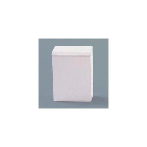 Impact Products 1112 Metal Sanitary Napkin Receptacle, White , Case of 12 by Impact Products