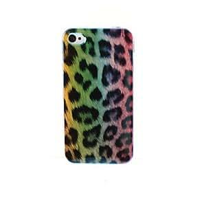 HC-Caja trasera del plástico del leopardo de la manera para el iphone 5/5s