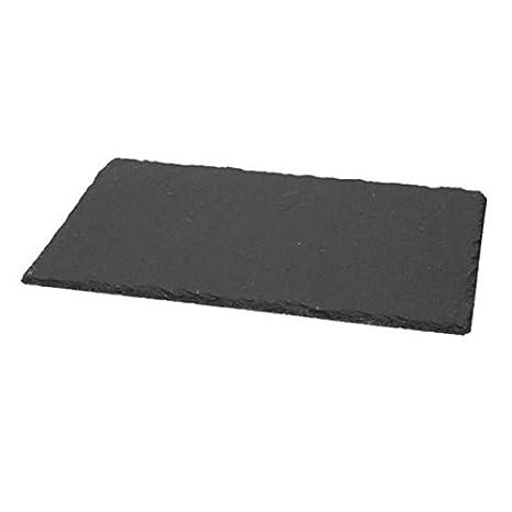 Plato Bandeja tabla de cortar rectangular (Pizarra Dim. CM ...