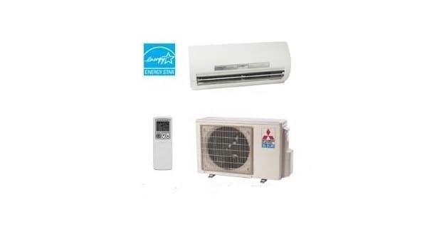 Amazon Com Mszfe09na Muzfe09na Mitsubishi Mr Slim 9 000 Btu 26 Seer Heat Pump Hyper Heating Single Zone Ductless Mini Split Air Conditioner Kitchen Dining