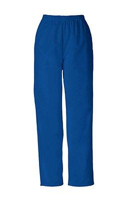 Blue Elastic Waist Scrubs - Cherokee Women's Workwear Scrubs Pull-On Pant, Galaxy Blue, Small-Petite